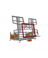 Atverčiamas stalas su aukščio reguliavimo mechanizmu KTH 3000