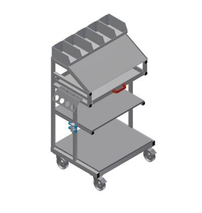 Smulkių detalių ir įrankių vežimėlis WKW 800